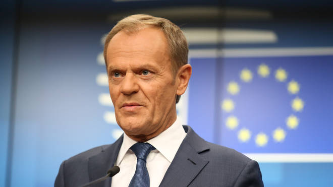 European Council president Donald Tusk made the statements on Wednesday