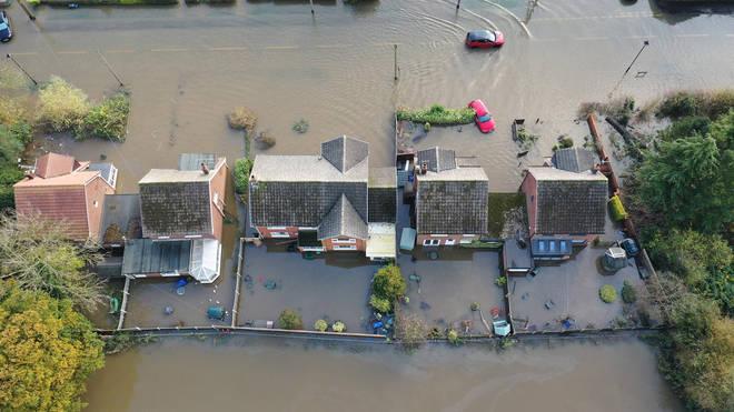 The flood-hit village of Fishlake
