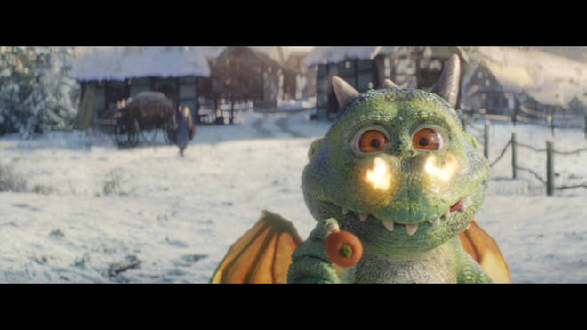 Edgar the dragon in the new John Lewis advert