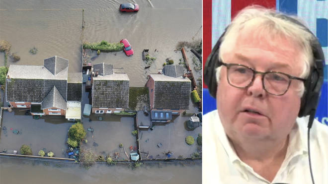 Nick Ferrari urged the foreign aid budget to be put towards helping flood victims