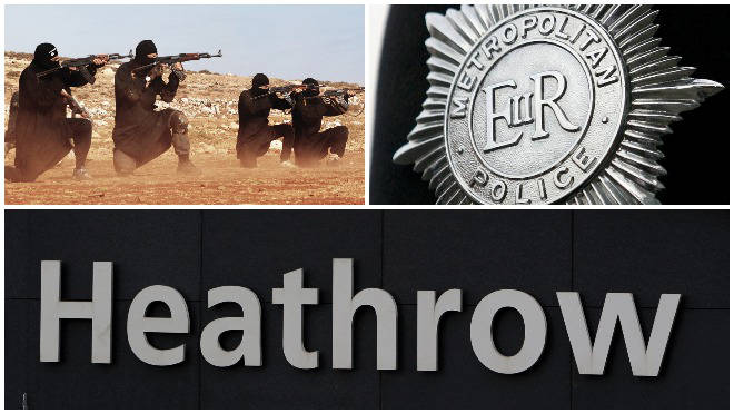 The Met confirmed a suspected terrorist has been arrested at Heathrow Airport