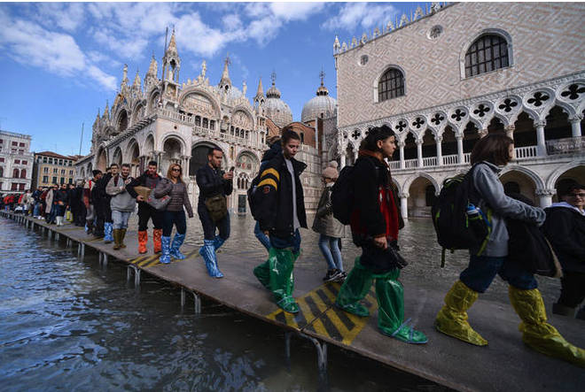 Much of Venice was left under water after the highest tide in 50 years ripped through the historic Italian city.