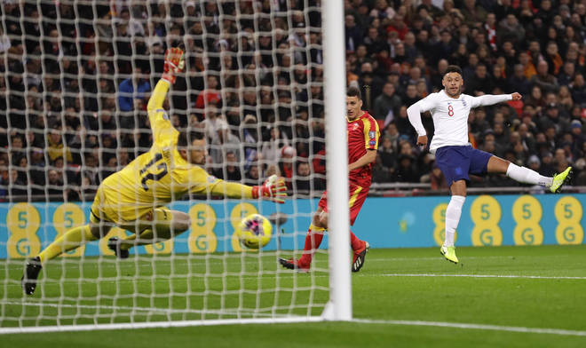 Alex Oxlade-Chamberlain opened the scoring for England