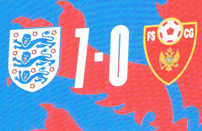 The full-time score was 7-0 to England