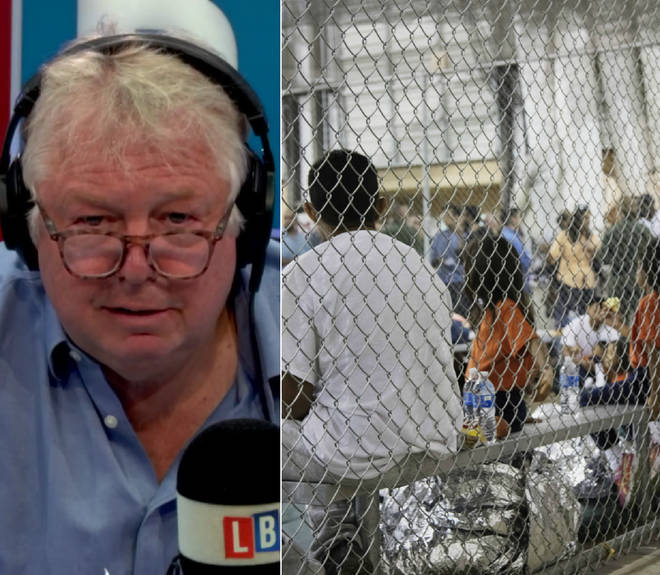 Nick Ferrari was not happy with the US holding children in cages