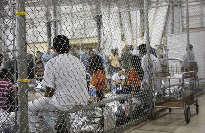 Children are being held in cages after being separated from their parents