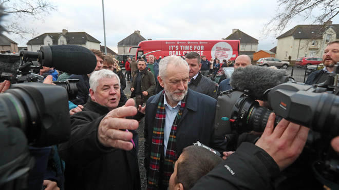 Jeremy Corbyn was heckled during a visit to a community centre in Glasgow