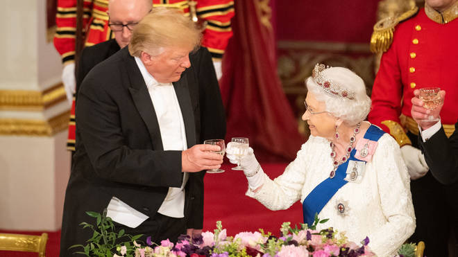 President Trump and the Queen a banquet during his state visit earlier this year