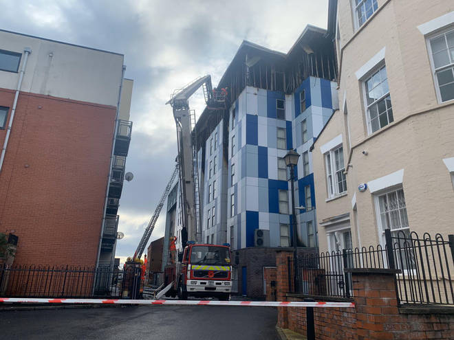 Two people were injured in last night's fire in Bolton