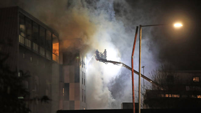 It took around 200 firefighters to quell the flames last night