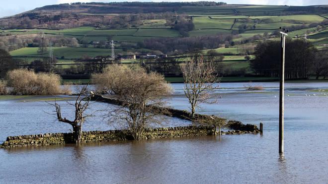Flooding in Silsdend, Yorkshire