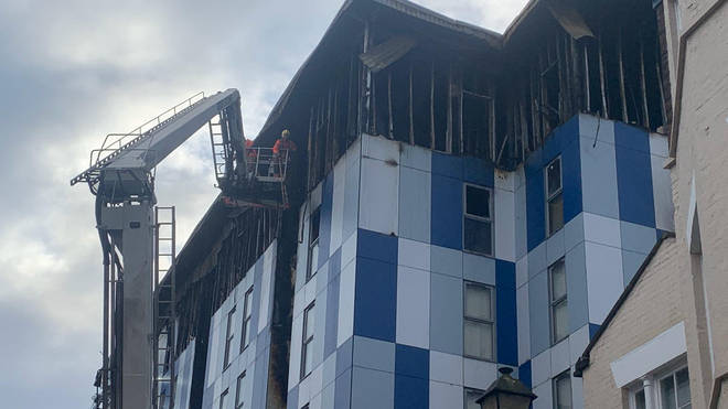 One person needed to be rescued by firefighters
