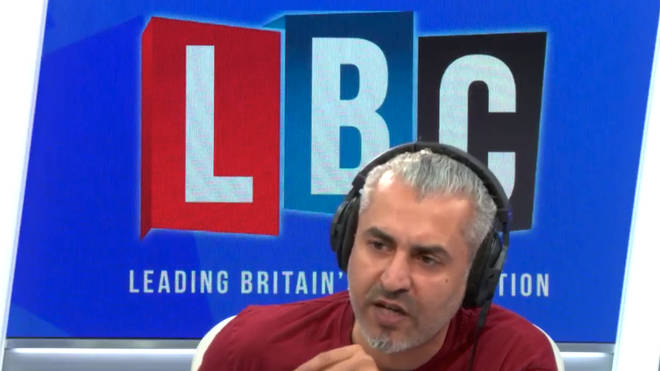 Maajid Nawaz explains to a caller what his reasoning is