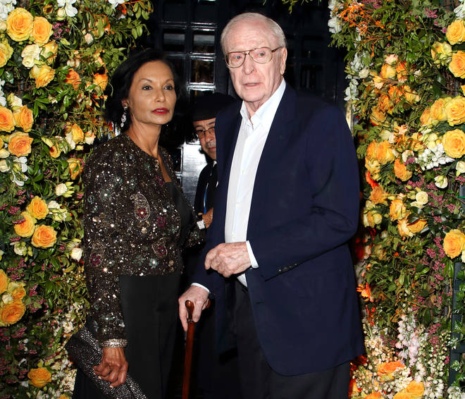 Sir Michael Caine and Shakira Caine at the 50th anniversary of Tramp's nightclub