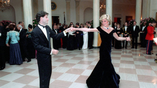 John Travolta dancing with Princess Dianna in  'the dress'