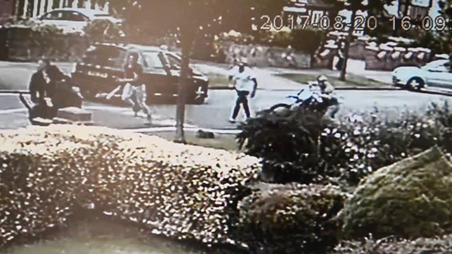 CCTV of the brawl