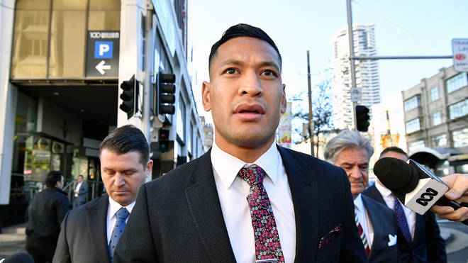Israel Folau was sacked by Rugby Australia earlier this year