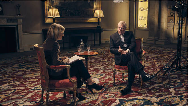 Prince Andrew interviewed on Newsnight.