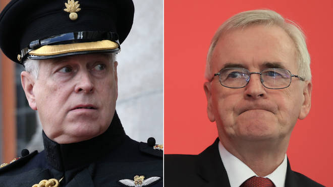 John McDonnell told Prince Andrew to co-operate with the FBI