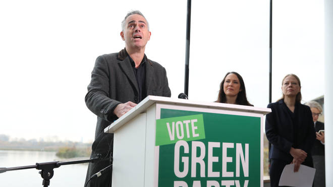 Green Party co-leader Jonathan Bartley launched the Green party election manifesto on Tuesday
