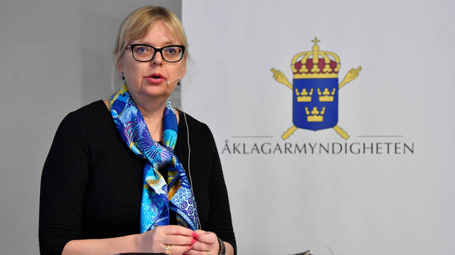 Deputy Director of Public Prosecution Eva-Marie Persson made the announcement in Stockholm on Tuesday