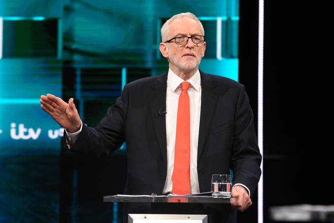 Jeremy Corbyn during the election debate