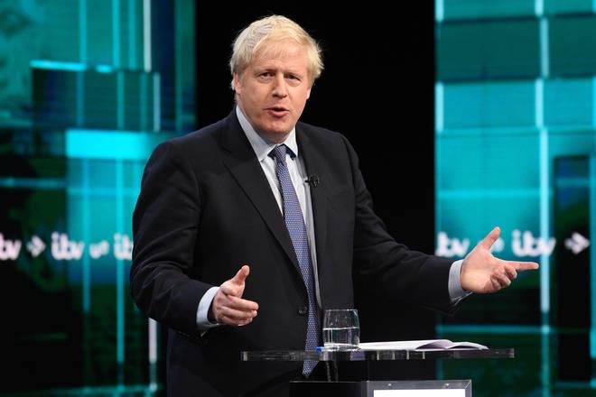 Boris Johnson during the debate