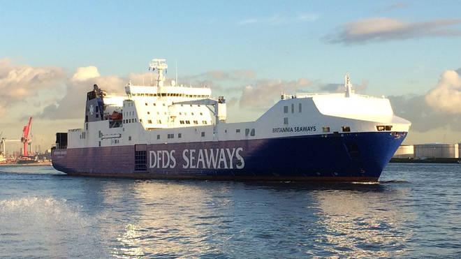 The Britannia Seaways ferry