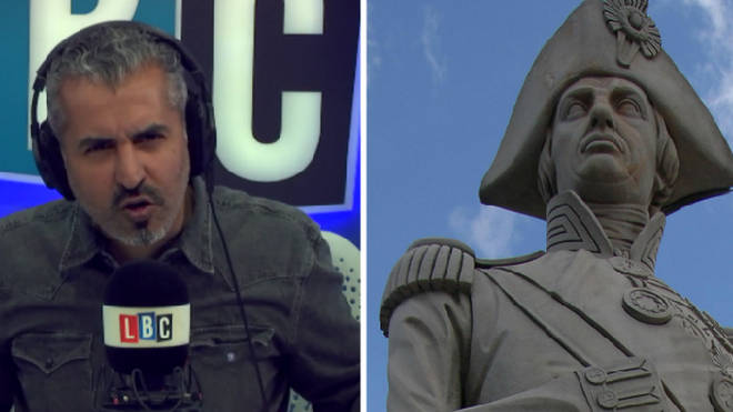 Maajid Nawaz on why it's wrong to suggestion Nelson's Column is toppled.