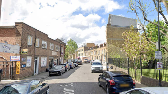 The man was found with a head wound on Nelson St in Whitechapel, east London