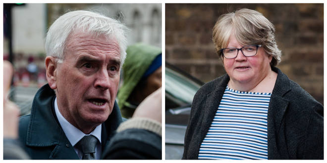 John McDonnell's statement has been criticised by Therese Coffey