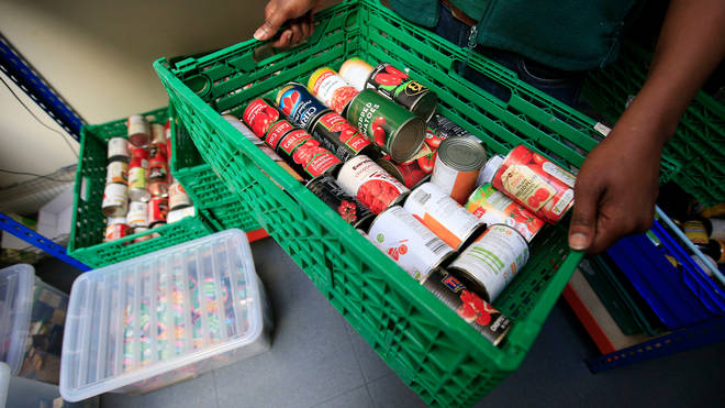 The report references food banks, in-work poverty and universal credit
