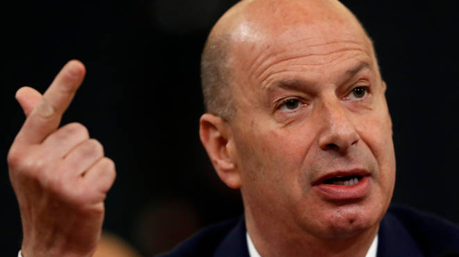 US Ambassador to the EU Gordon Sondland has been giving evidence at the impeachment enquiry