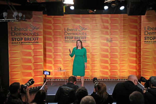 Jo Swinson at the Lib Dems manifesto launch