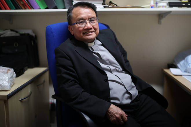 The priest of the Vietnamese Catholic Cathedral in east London, Father Simon Thang Duc Nguyen