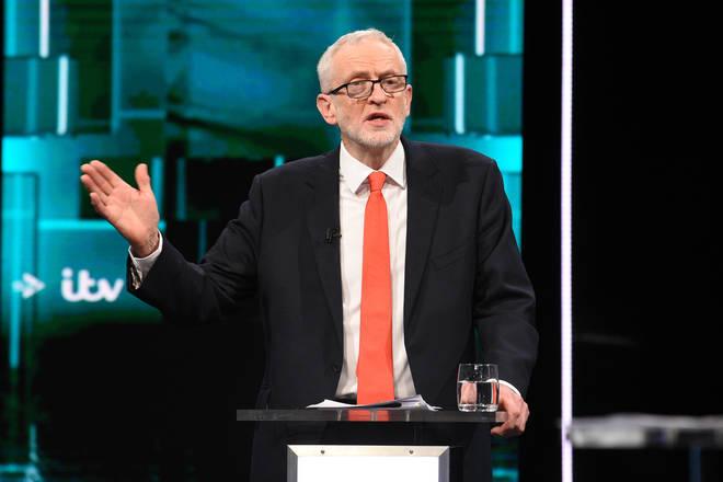 Jeremy Corbyn during the ITV leaders' debate