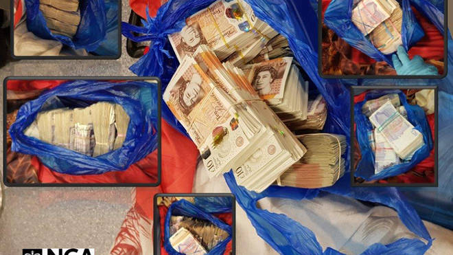 Cash and drugs officers found during the raids
