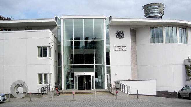 The trial is taking place at Exeter Crown Court