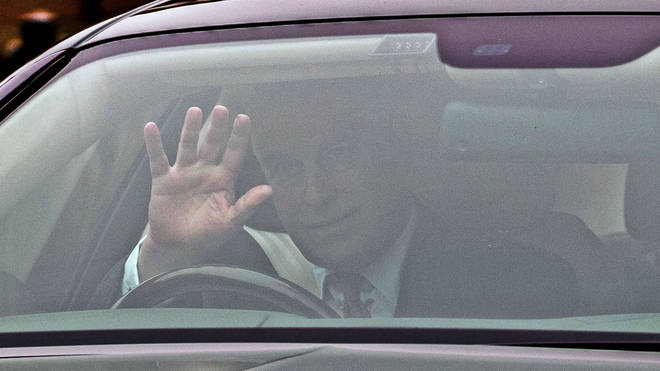 Prince Andrew is seen for the first time since stepping back from royal duties