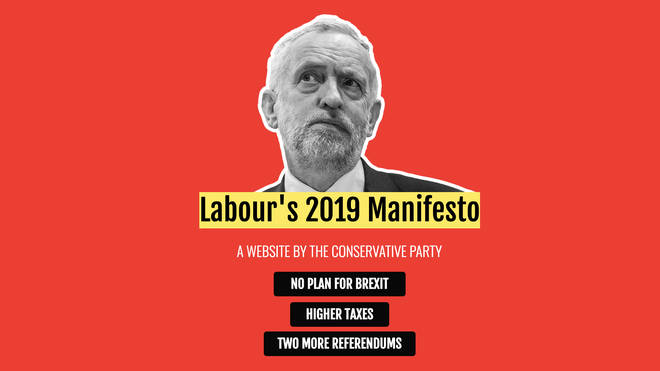 The website at first glance looks as though it is a Labour Party site - but it was actually created by the Conservatives