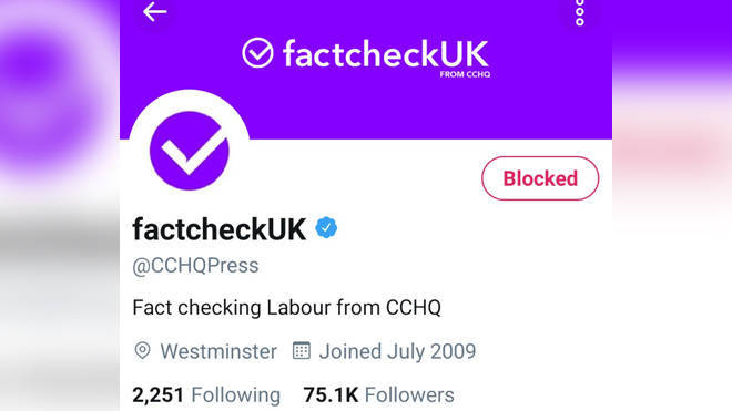The tories previously came under fire for changing their press account to be called 'factcheckUK' during a televised debate between Jeremy Corbyn and Boris Johnson