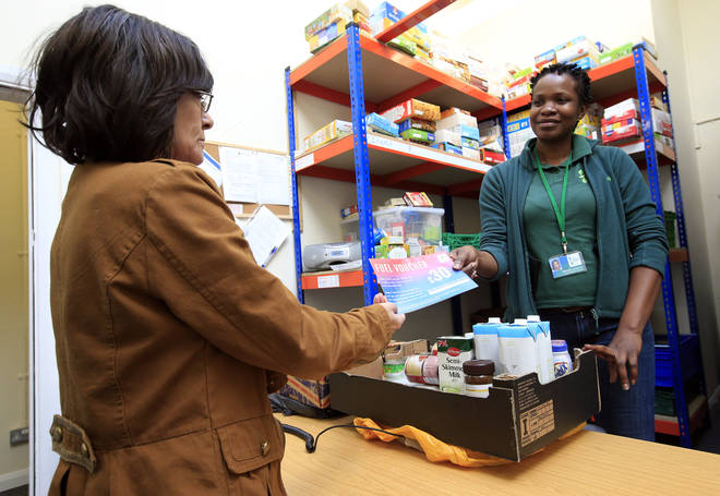 The amount of people going to food banks is growing, said Eddie