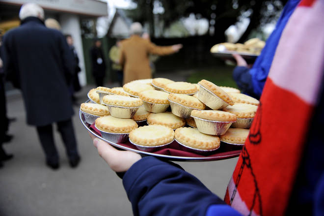 Mince pies are traditionally served during the Christmas period