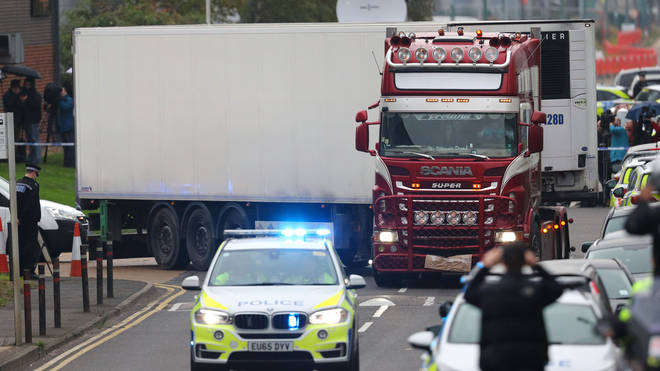 Last month 39 Vietnamese migrants were found dead in a lorry in Essex