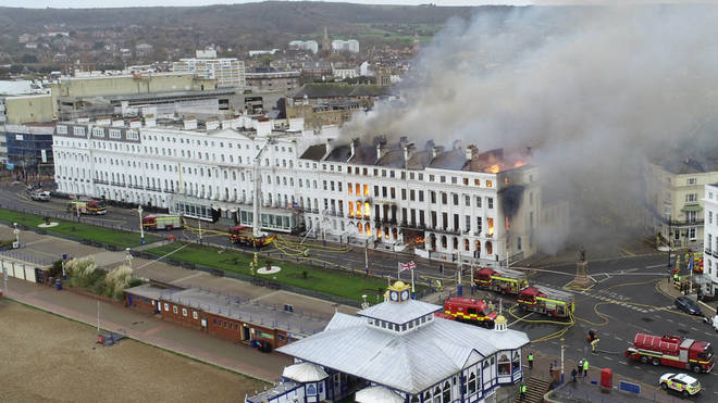 Twelve fire engines were sent to tackle the fire