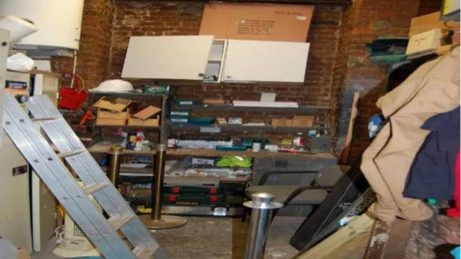 The maintenance room where the attack took place