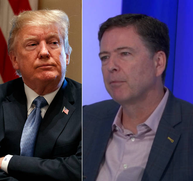 James Comey had strong words for Donald Trump on LBC