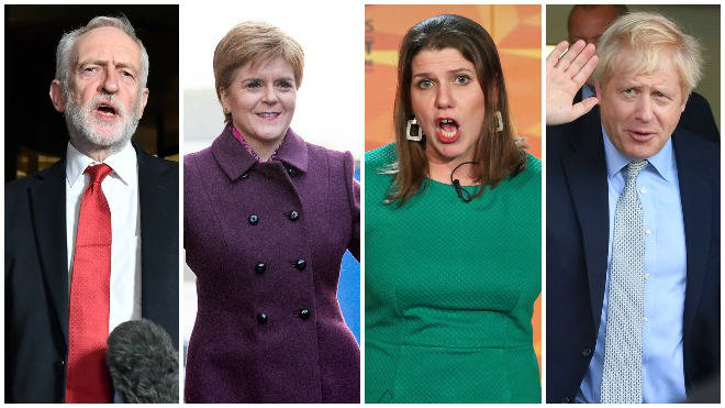 The leader of the UK's four biggest parties faced an audience grilling