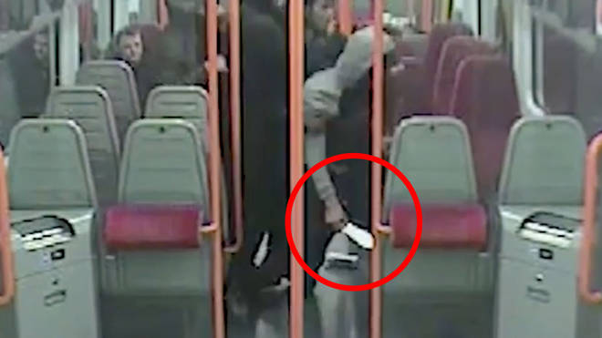 The chilling knife attack took place onboard a South Western Railways