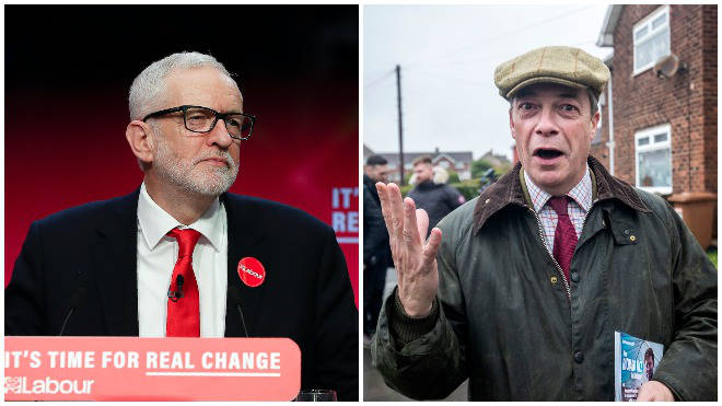"""Farage criticised Corbyn&squot;s """"neutral"""" stance on Brexit"""
